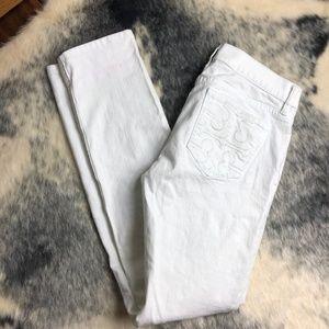 Tory Burch White Super Skinny Jeans 28